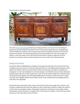 French furniture- wild wood antique