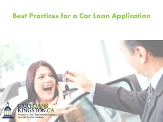 Best Practices for a Car Loan Application
