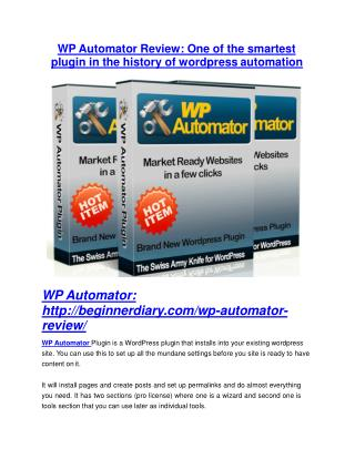 WP Automator Review and WP Automator (EXCLUSIVE) bonuses pack