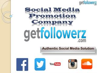 GetFollowerz: Social Network Marketing Company