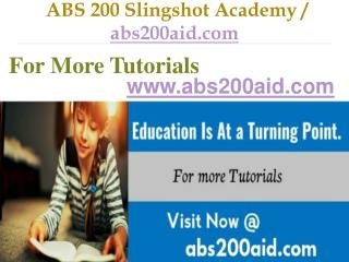 ABS 200 Slingshot Academy / abs200aid.com