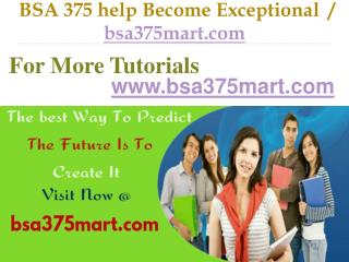 BSA 375  help Become Exceptional  / bsa375mart.com