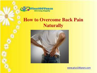 How to overcome backpain naturally