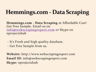 Hemmings.com - Data Scraping