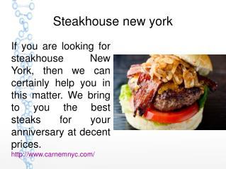 Steakhouse new york