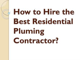 Best Residential Pluming Contractor in Surrey, BC