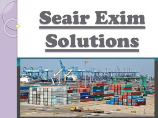 Import Export Data India- Accurate Database offered at Seair