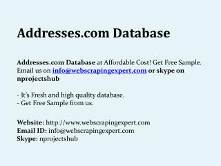 Addresses.com Database