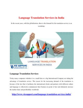 Language Translation Services in India