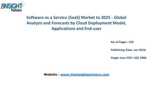 The Insight Partners - Software as a Service (SaaS) Market is expected to grow at a CAGR of 28.3% by 2025