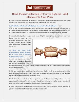 Carved Sofa Set Manufacturers Suppliers In Delhi