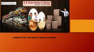 Reliable Packers and Movers Company in Kolkata