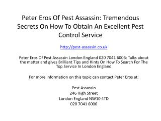 Peter Eros Of Pest Assassin