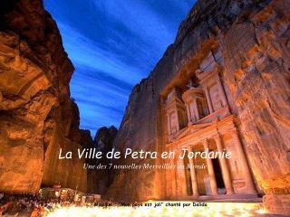 Musique :  Mon pays est joli  chant  par Dalida