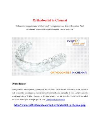 Orthodontist in Chennai
