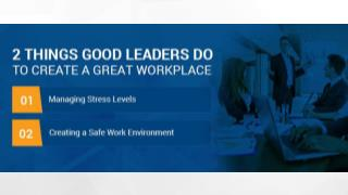 2 Things Good  Leaders Do to  Create a Great  Workplace