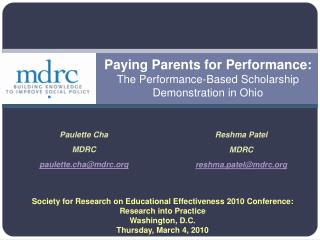 Paying Parents for Performance:  The Performance-Based Scholarship Demonstration in Ohio