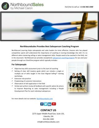 Northbound sales Provides Best Salesperson Coaching Program
