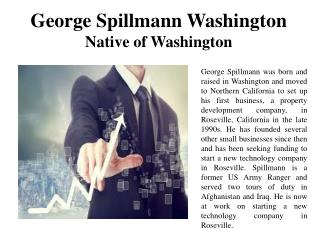 George Spillmann Washington - Native of Washington