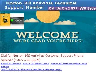 Dial(1-877-778-8969) Norton 360 Technical Support Phone Number