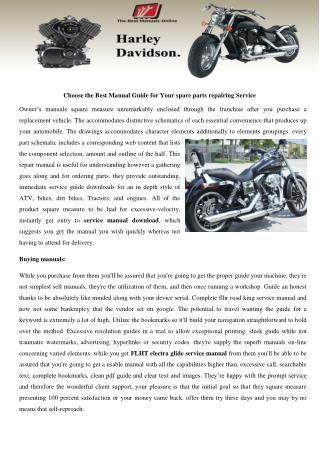 FLHT electra glide service manual