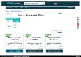 Macy's Coupons, Coupon Codes, Promo Codes