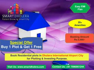 Buy Residential Plots in Dholera International Airport City