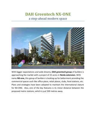 DAH Greentech NX One Noida