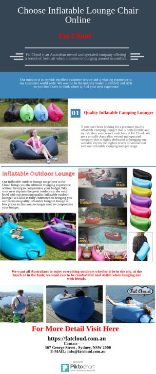 Super Comfortable Inflatable Lounge Chair Online