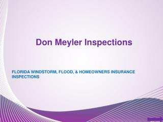 Home Insurance Inspections