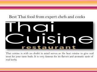 Thai food restaurants in Toronto, Oakville