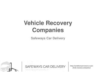Vehicle Recovery Companies