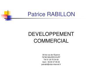 Patrice RABILLON