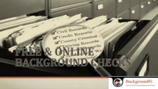 Free & Online Background Checks