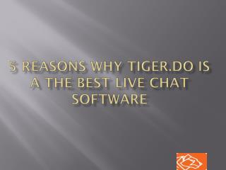 5 reasons why Tiger.do is a the best live chat software