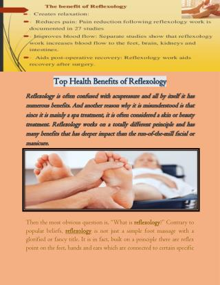Top Health Benefits of Reflexology