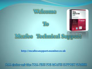 Mcafee Technical Support Number