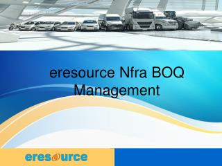 eresource Nfra BOQ Management