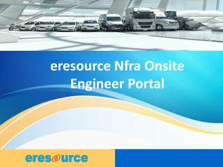 eresource Nfra Onsite Engineer Portal