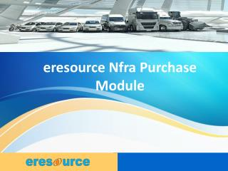 eresource Nfra Purchase Module