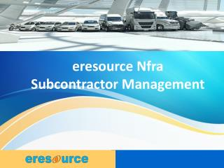 eresource Nfra Subcontractor Management