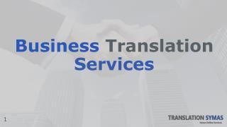 Business Translation services from Translationsymas