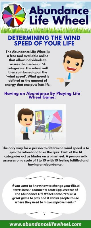 Infographic about Playing Life Wheel Game