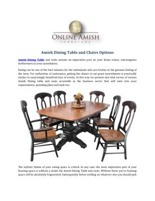 Amish Dining Table and Chairs Options