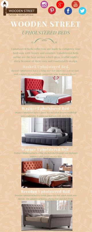 Upholstered Beds - Get latest Upholstered Beds online @ Wooden Street