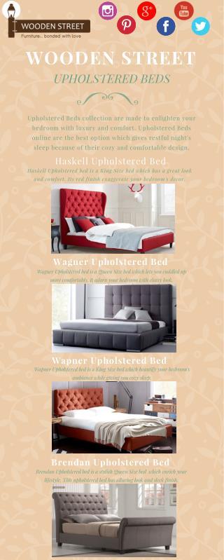 Upholstered Beds - Get latest Upholstered Beds online @ Wooden Street