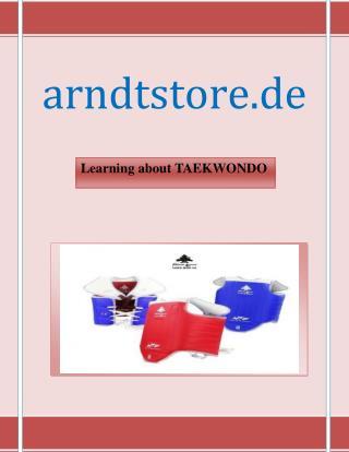 Learning About TAEKWONDO | arndtstore.de