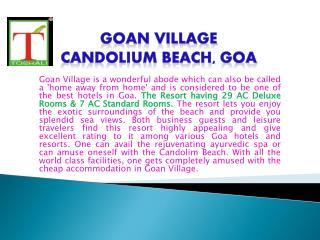 HOTEL IN GOA - GOAN VILLAGE BEACH RESORT