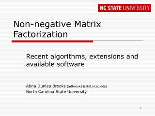 Non-negative Matrix Factorization