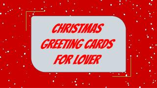 Cute Christmas Greetings for Friends